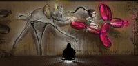 Ein Street-Art-Tag an der Dreisam