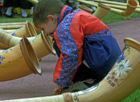 Formation Alphornträume tritt am Wochenende in St. Blasien, Waldshut und Weilheim auf