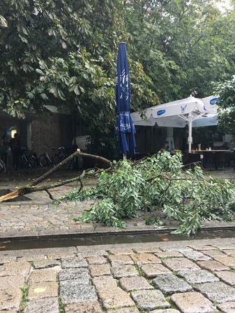 Unwetter in der Gartenstraße