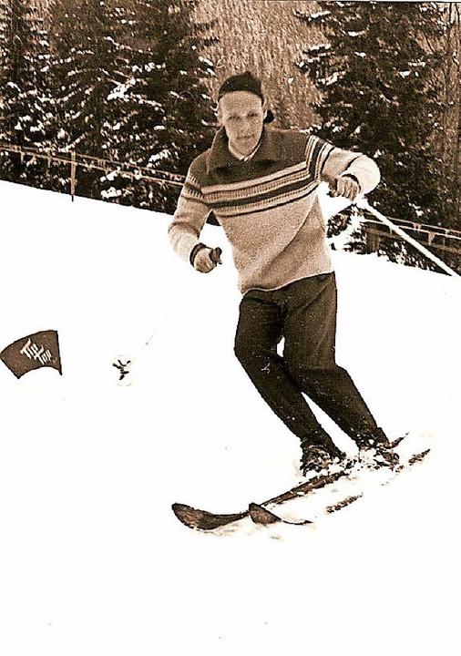 Fürs Skifahren begeisterte sich Hans-J...er die Skiabteilung des TuS Höllstein.    Foto: Privat