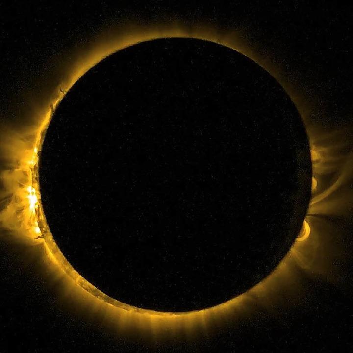 Am Montag verschwindet die Sonne in den USA hinter  dem Mond.   | Foto: dpa