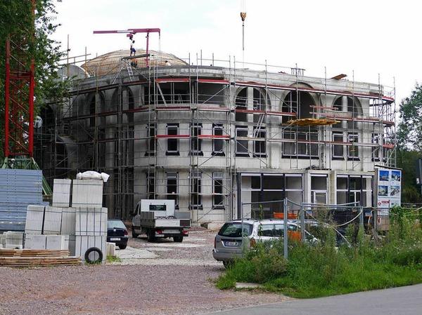 Blick auf den Neubau aus westlicher Richtung