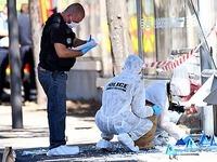 Auto rast in Bushaltestellen in Marseille - Ein Toter