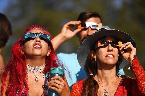 Totale Sonnenfinsternis begeistert Amerika.