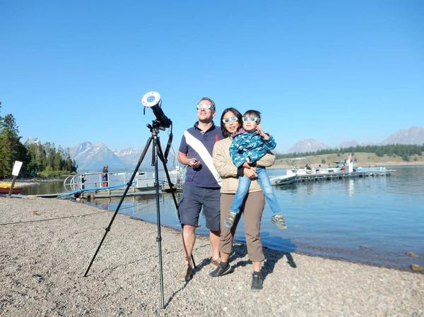 Der Freiburger Sven Hartmann mit Ehefrau Su-Ching Wang und Sohn Georg in Wyoming