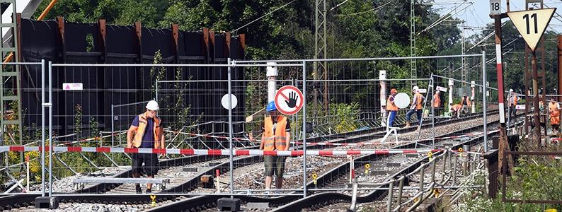 Bahn-Betriebsrat: Rheintalstrecke bleibt bis zum 7. Oktober gesperrt