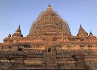 Vom Erdbeben beschädigteTempelstadt Bagan wird wieder aufgebaut