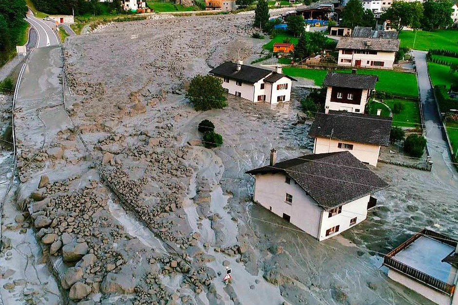 Im Schweizer Kanton Graubünden ist eine gewaltige Gerölllawine vom Piz Cengalo abgegangen. (Foto: AFP)