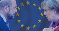 Welches Europabild haben Merkel und Schulz?