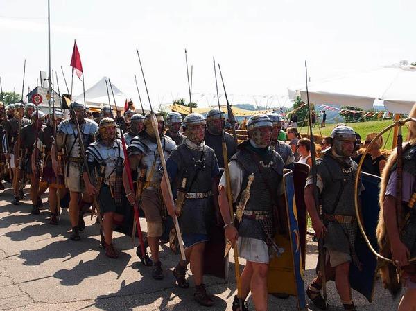 Die Legionäre unterwegs