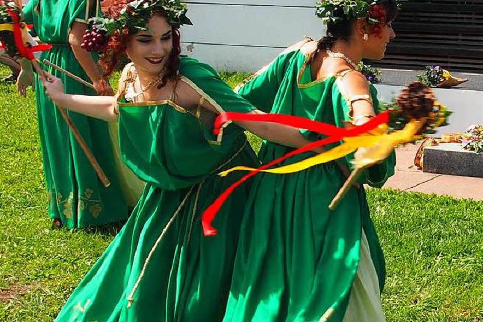 Bacchus-Tanz auf dem Forum (Foto: Boris Burkhardt)