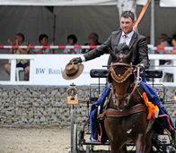 Philipp Faißt vom RFV Ottenheim holt sich den Landesmeistertitel