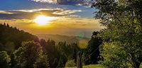 Abendstimmung über dem Tal