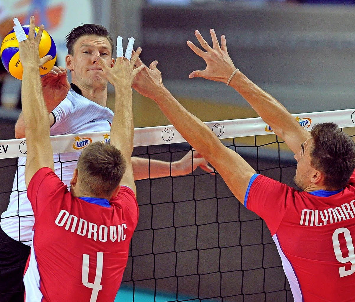 Volleyballer im EM-Viertelfinale gegen Tschechien