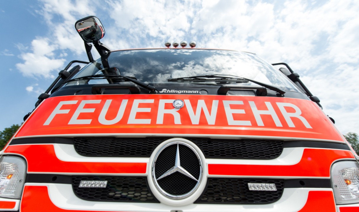 Die Feuerwehr musste am Mittwochmorgen...am neuen Freiburger Rathaus ausrücken.  | Foto: Patrick Seeger