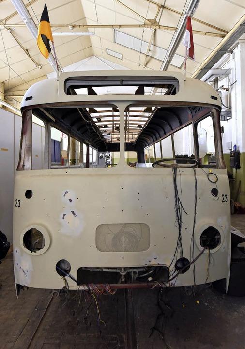 Seit einiger Zeit kümmert sich der Ver...nes Büssing-Busses aus dem Jahr 1956.   | Foto: Thomas Kunz