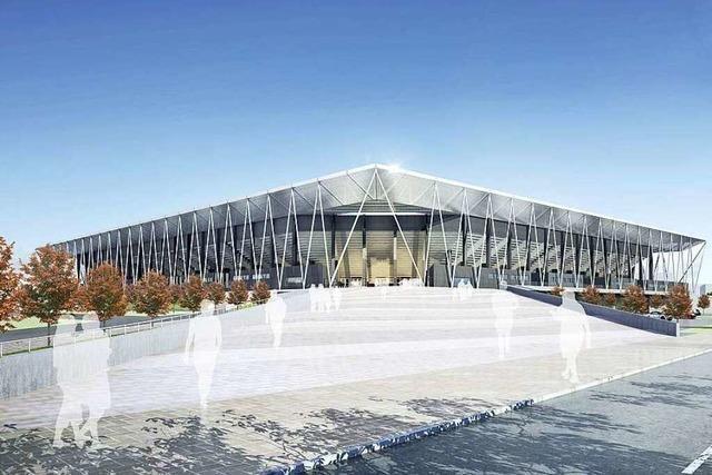 So soll das neue Stadion für den SC Freiburg aussehen