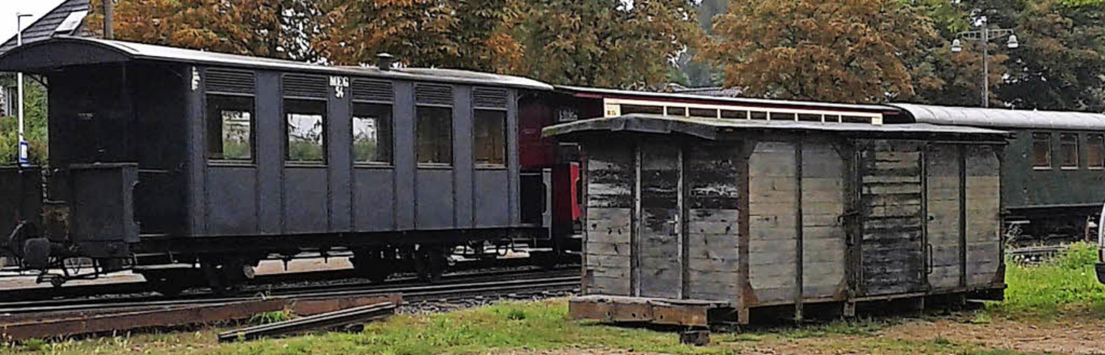 Güterwagen 133 an seinem Bestimmungsor...adischen Eisenbahn-Gesellschaft traf.   | Foto: Martin Kilb