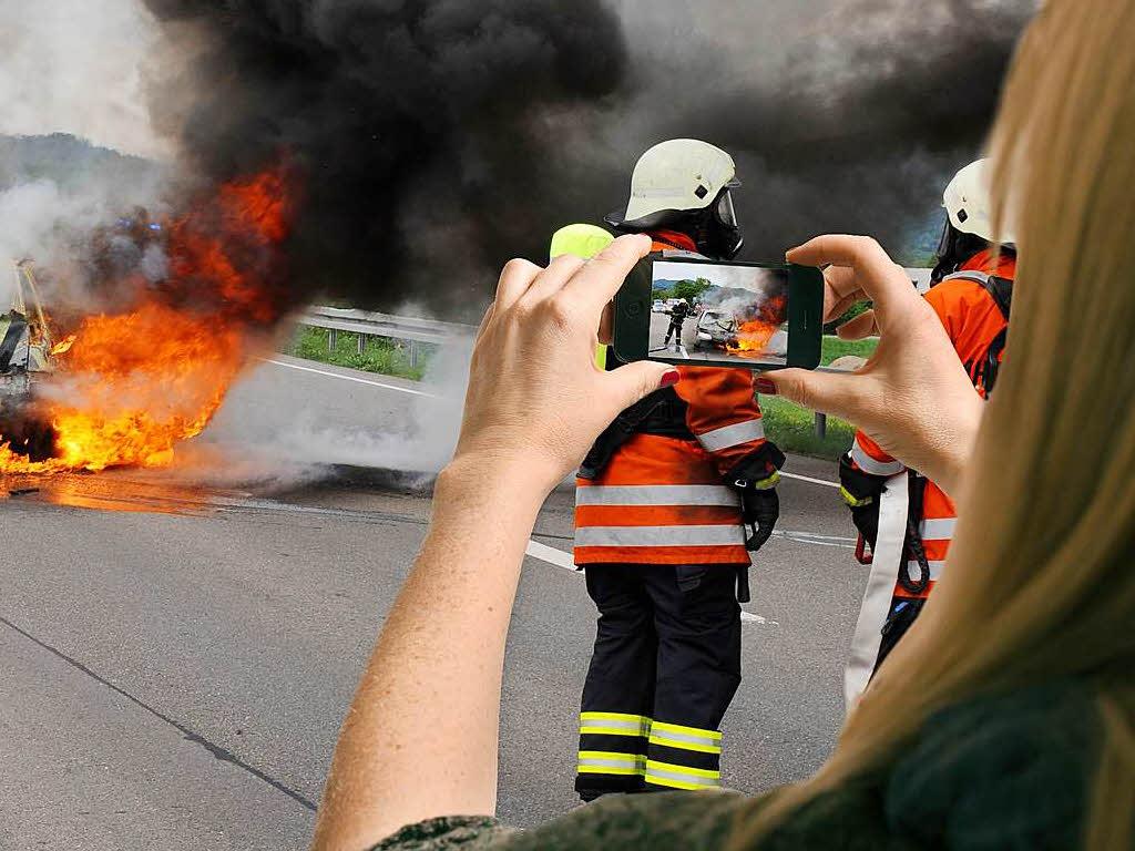 Gaffer filmt nach Unfall