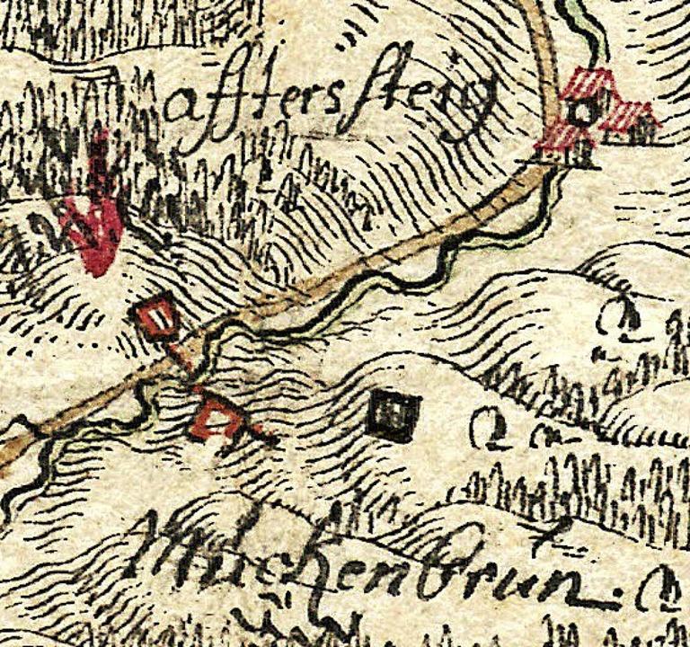 Muggenbrunn Schanze in Karte  | Foto: Repro: Werner Störk