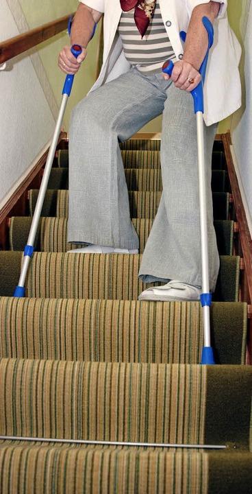 Wohnen auf mehreren Stockwerken kann im Alter zum Problem werden.    Foto: dpa-tmn
