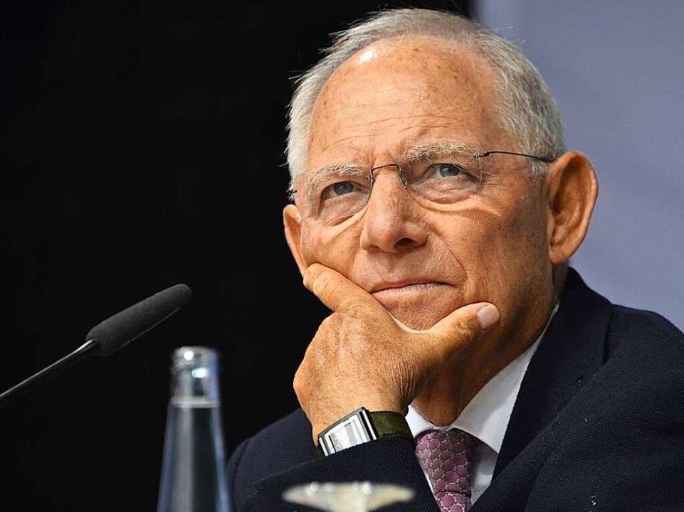 Bundesfinanziminister Wolfgang Schäuble ist der erste Gast beim BZ-Wahltag  | Foto: Michael Bamberger