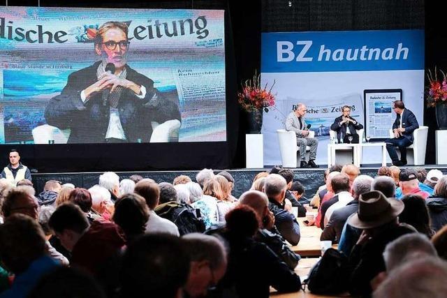Fotos: Der BZ-Wahltag mit Spitzenkandidaten der Parteien