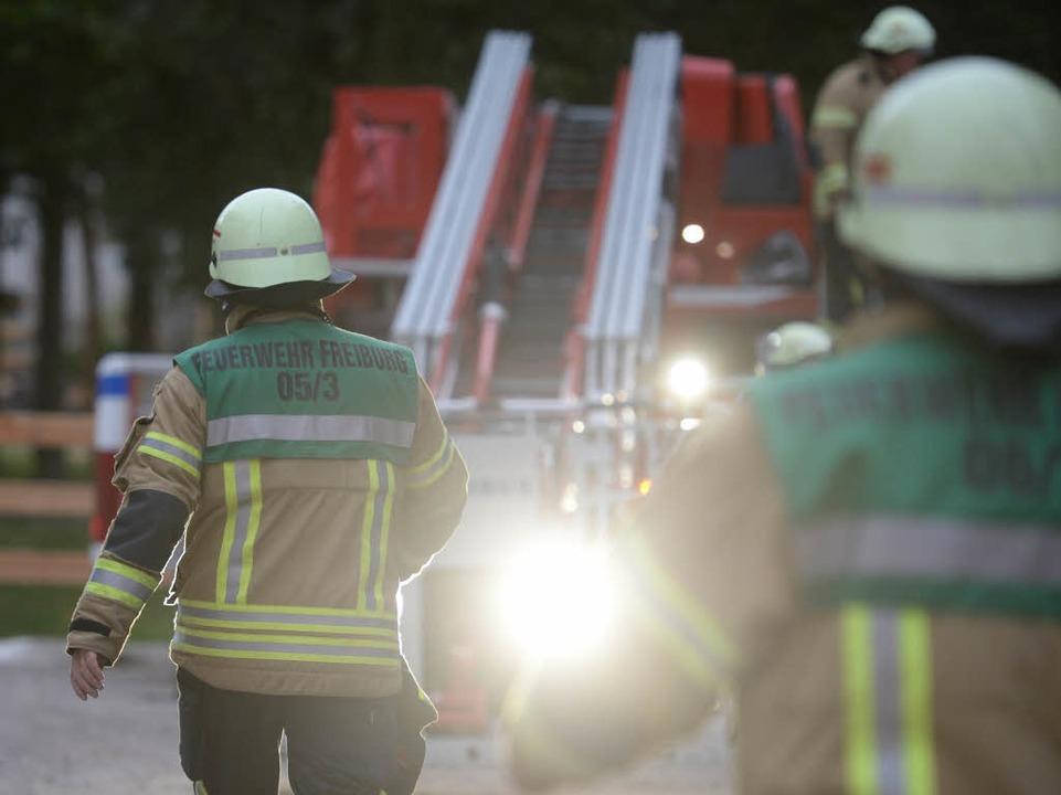 Auf dem Mundenhof gab es einen Schwelbrand im Heu  | Foto: Patrick Seeger