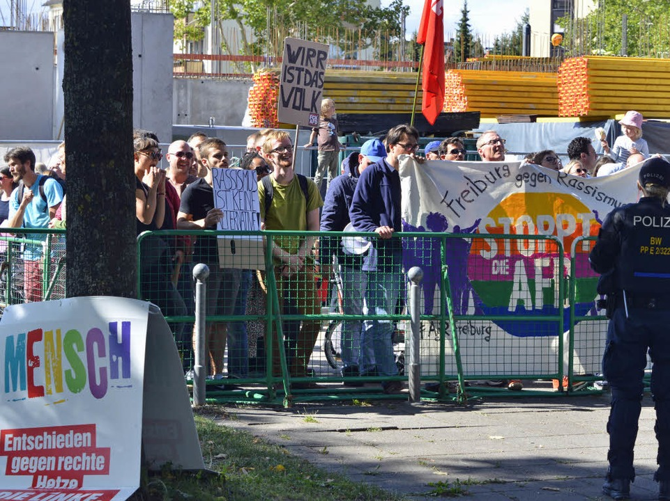 Anti-AfD-Demo in Zähringen  | Foto: Michael Bamberger