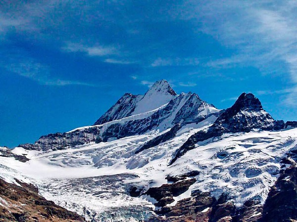 Neuschnee im Berner Oberland im September.