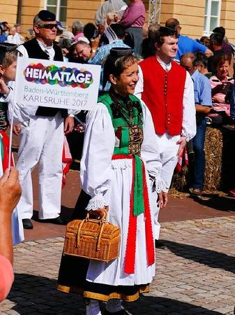 Impressionen vom Landesfestumzug in Karlsruhe, dem diesjährigen Ausrichter der Heimattage Baden-Württemberg.