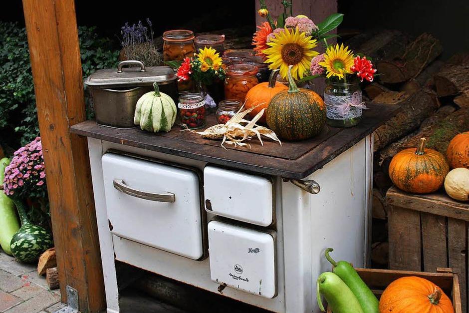 Herbstliche Dekoration beim Hoselipsfest (Foto: Christiane Franz)