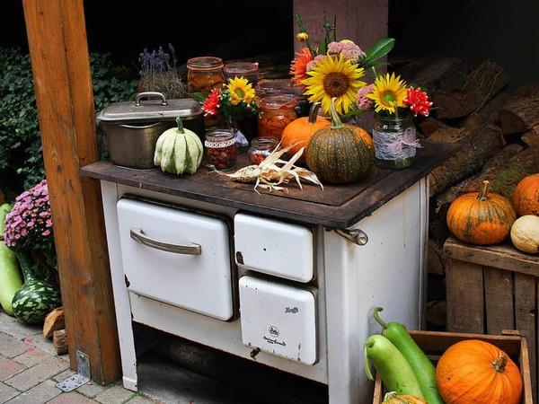 Herbstliche Dekoration beim Hoselipsfest