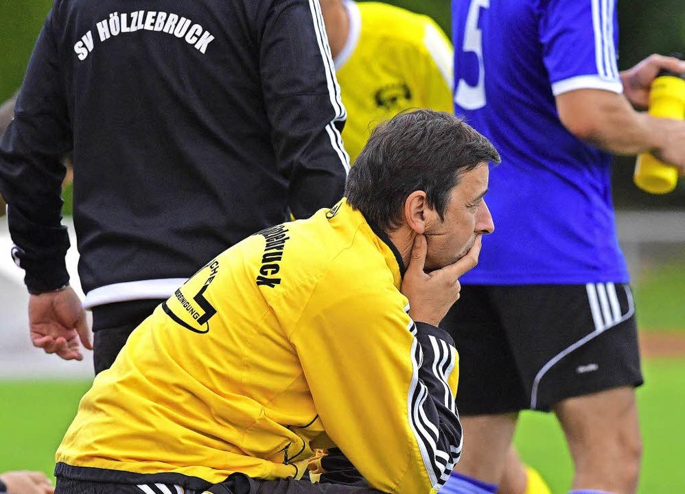 Bitterer Moment eines Trainerlebens: H...r Last-Minute-Heimniederlage stinkig.   | Foto: Wolfgang Scheu