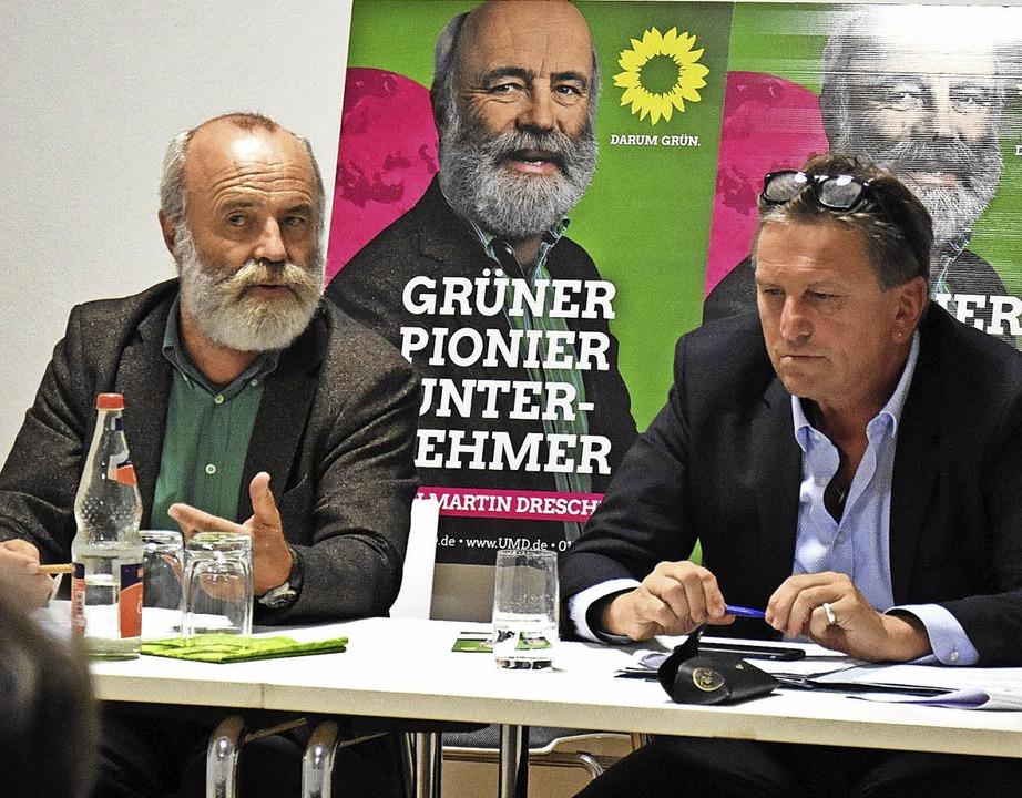 Ulrich Martin Drescher (links) und Manfred Lucha   | Foto: Jonas Hirt