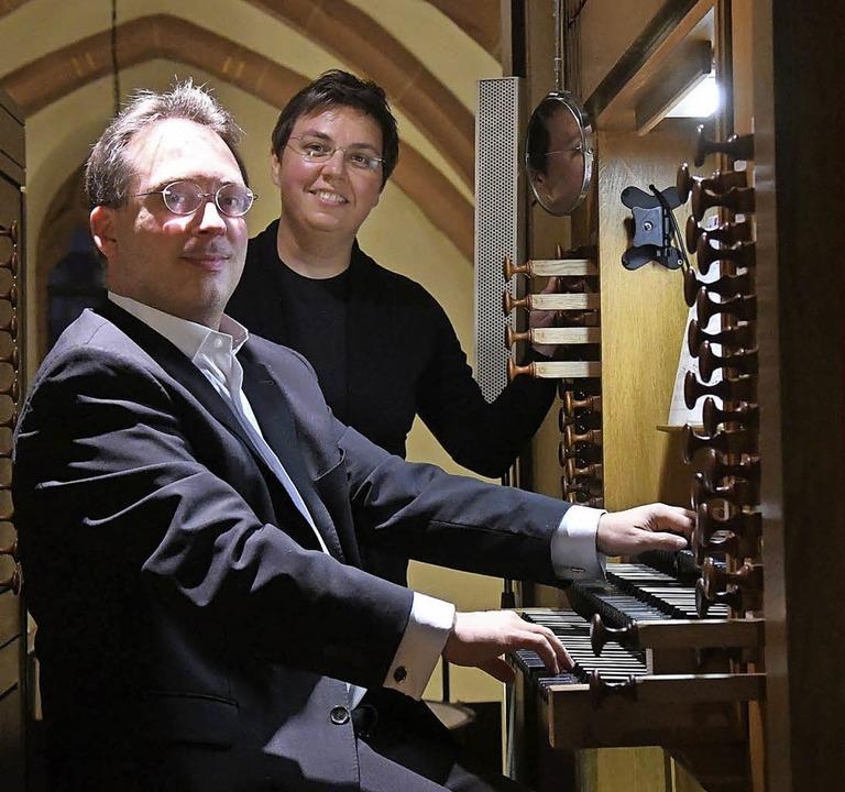 Kerstin Wagner und Peter Kranefoed gestalteten die letzte Sommermusik.   | Foto: W. Künstle