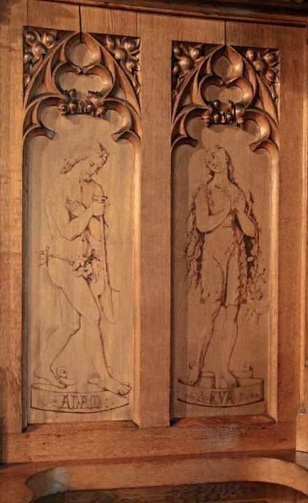 Nazarenische Brandbilder von Adam und ... an den Kreuzgang (rechts) anschließt.  | Foto: Judith Reinbold