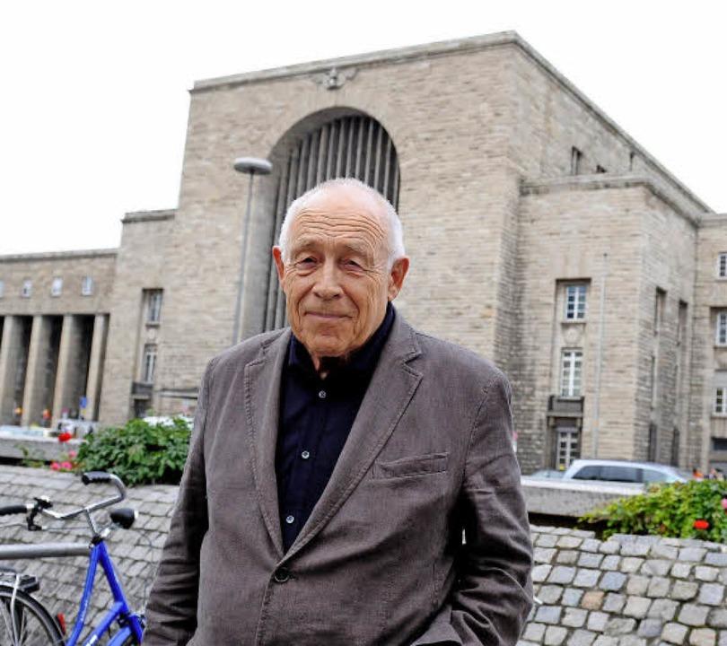 Heiner Geißler war ein gefragter Vermi...den Neubau des Stuttgarter Bahnhofes.   | Foto: dpa
