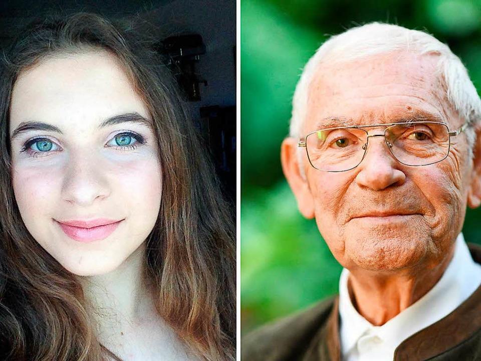 Defne Dayi (l, Freie Wähler) aus Villi...), der mit 84 Jahren älteste Kandidat.  | Foto: dpa