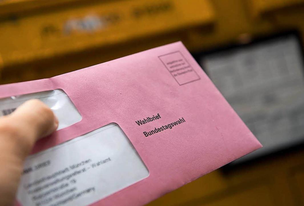 Die Stadtverwaltung Ettenheim hat fals...ür die Bundestagswahl 2017 verschickt.  | Foto: dpa