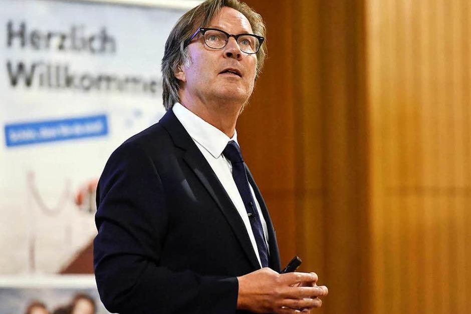 Vortrag von Jens Weidner beim BZ-Wissensforum (Foto: Thomas Kunz)
