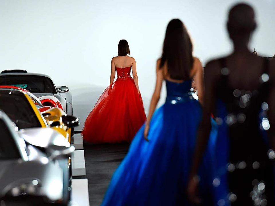 Als wäre es nicht die Fashion Week in ...Frankfurt: die  Show von Ralph Lauren   | Foto: AFP