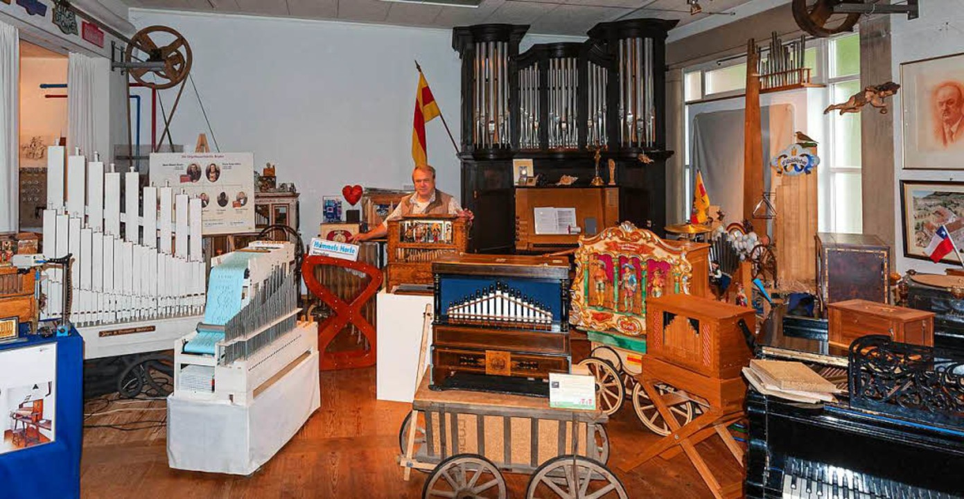 Viele Schätze des Waldkicher Orgel- un...s sind im Orgelbauersaal zu bewundern.  | Foto: Helmut Rothermel