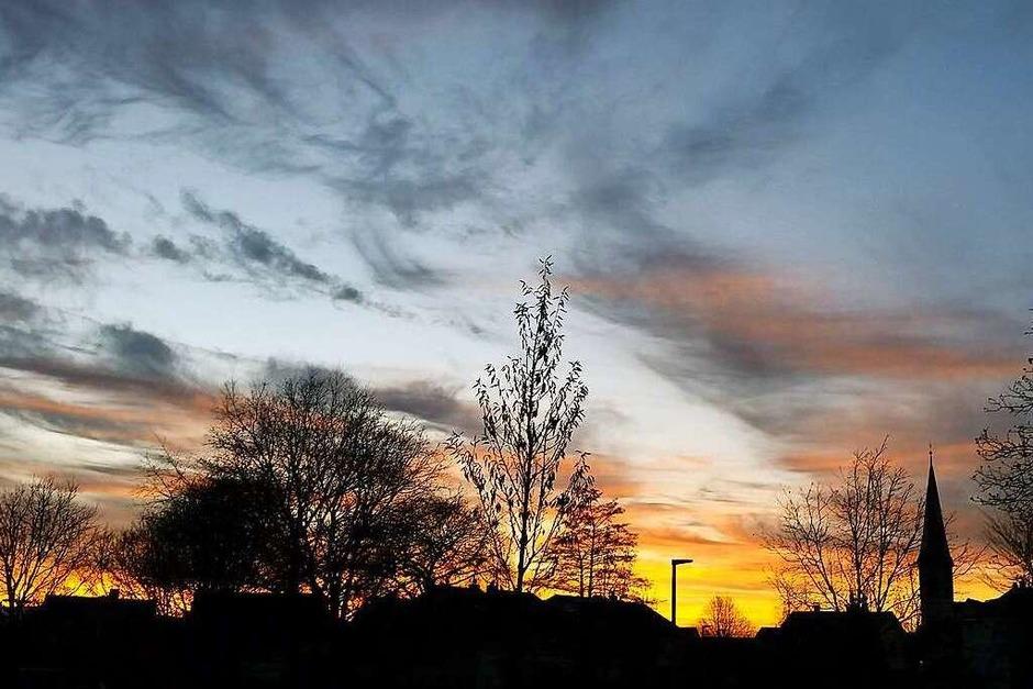 Sonnenuntergang Wyhlen (Wyhlen) (Foto: Alexandra Schmidt)