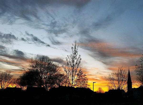 Sonnenuntergang Wyhlen (Wyhlen)