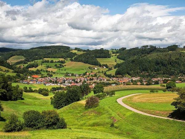 Sicht auf die Landschaft rund um Winden im Elztal (Ensenberg)
