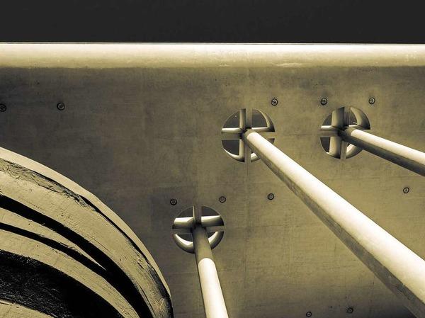 Beinahe wie Notenhälse - Portal des Konzerthauses (Freiburg)