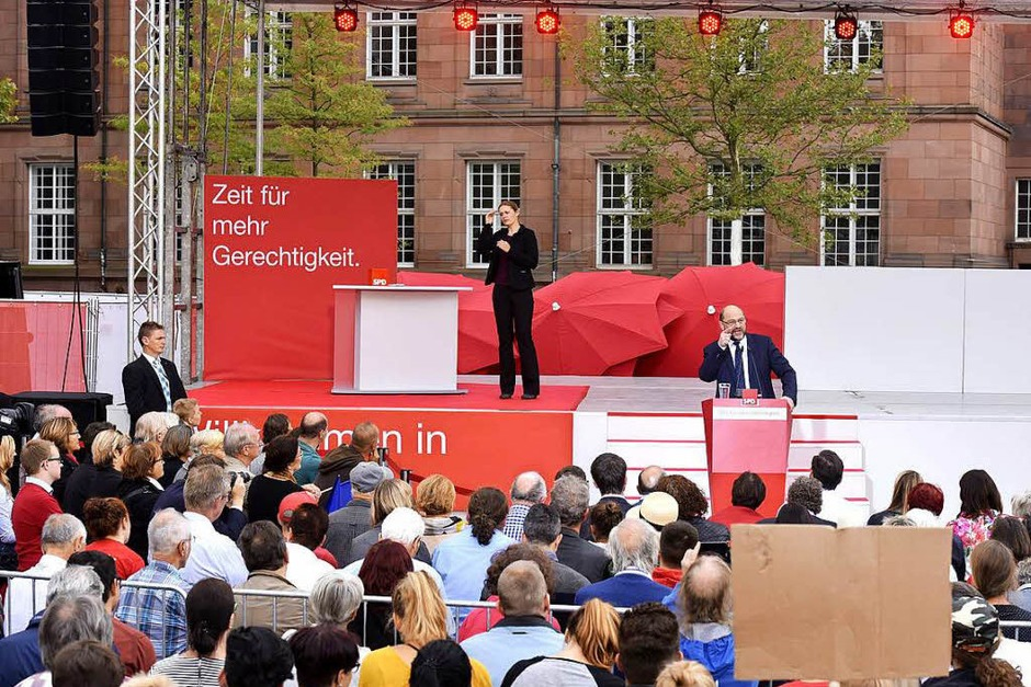 Wahlkampfauftritt von Martin Schulz (Foto: Thomas Kunz)