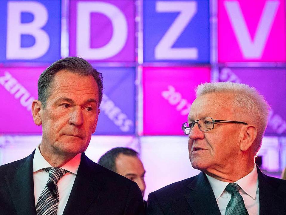 Kritik am Gratistextangebot der Öffent...er beim Zeitungskongress in Stuttgart   | Foto: dpa