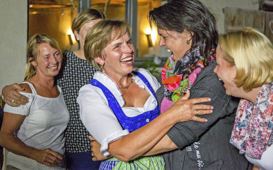 Riesenfreude bei der Bekanntgabe des Ergebnisses    Foto: SWR/megaherz/Andreas Maluche